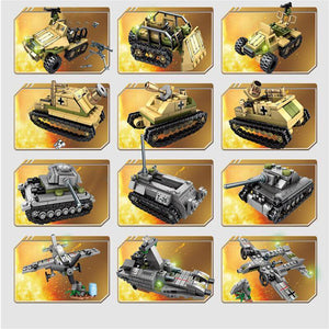 Empires of Steel WWII Battle Bricks Army Sets with 8 Free Minifigures Military Sets