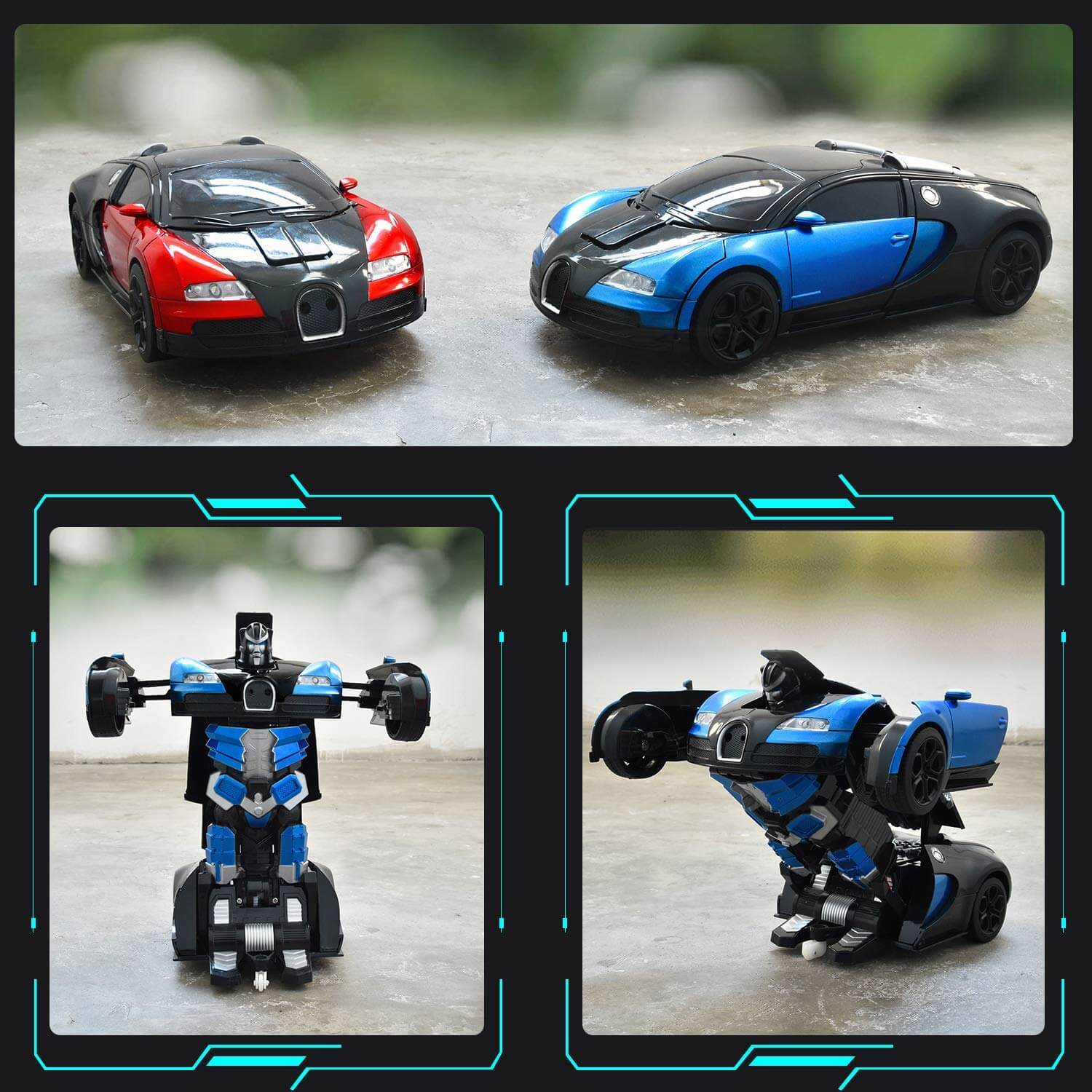 1:14 Remote Control Transformer Robot Car Toys Gesture Sensing RC Car Transforming with Sounds, LED Lights
