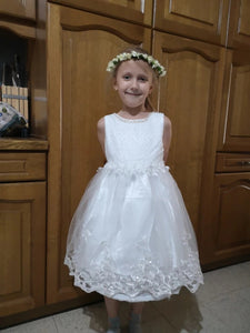 Lace Appliques Beading First Communion Dresses