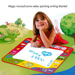 Water Drawing Mat Educational Writing/Doodling/Drawing Mat Kid Developmental Doodle Board Toy With 2 Magic Pens Great Gift for Kids