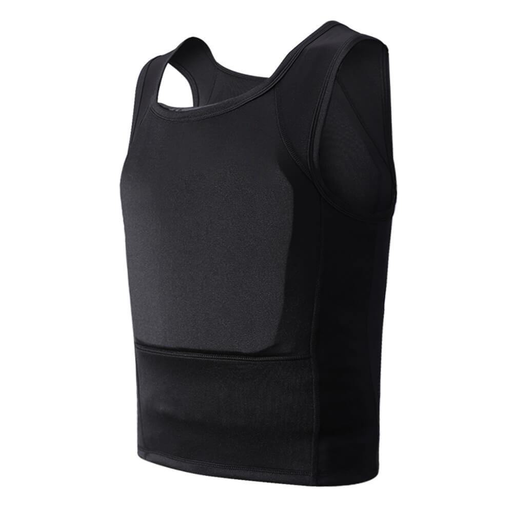 Concealed Bulletproof Vest Ultra Thin T-shirt Undershirt Covert Body Armor - NIJ IIIA Protection