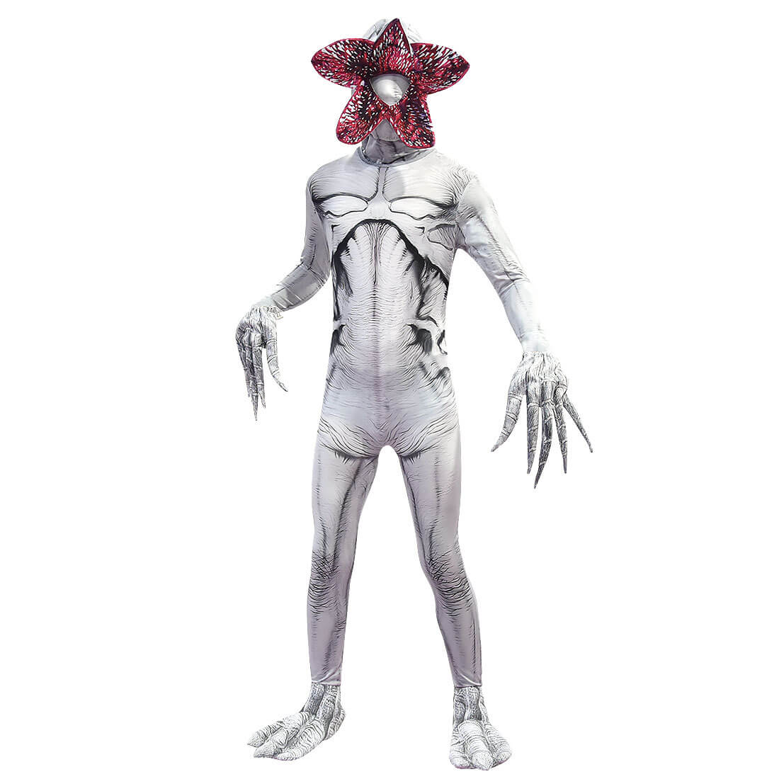 Kids Adults Demogorgon Costume Stranger Monster Jumpsuit Party Cosplay Outfit