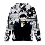 Jujutsu Kaisen Hoodie 3D Pullover Sweatshirt Outwear Hooded for Adluts/Youth
