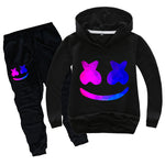Kids DJ Marshmallow Hoodie and Pants Halloween Cosplay Outfit