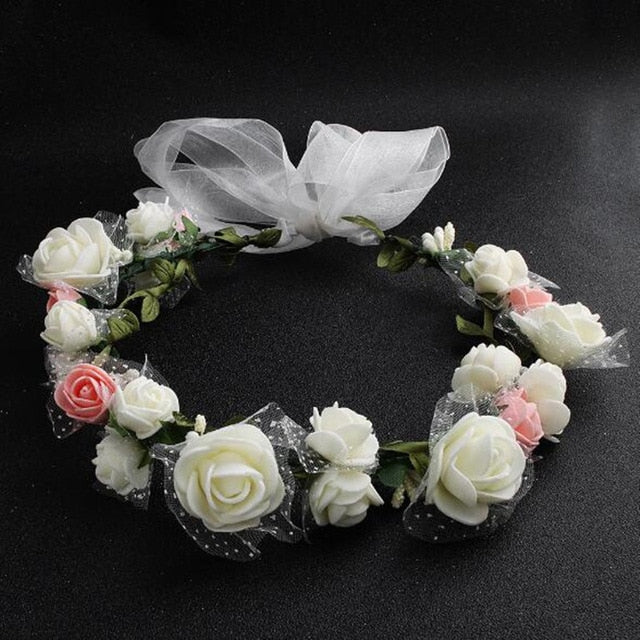 Fashion Flowers Headbands Wedding Party Crown Hair Accessories Wreath