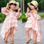 Kid Baby Girl Summer Lace Ruffle Princess Party Pageant Dresses