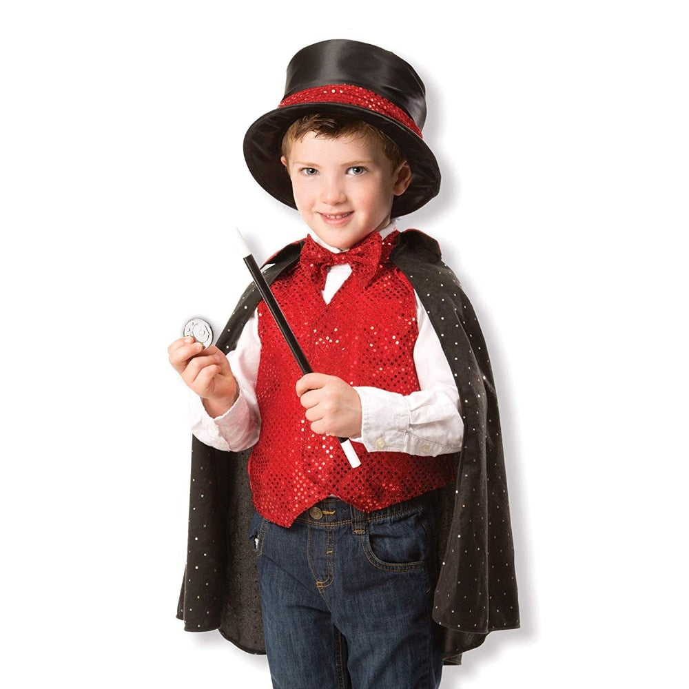 Kids Magician Costume Role Play Set for Toddlers Boys Girls 9 Pieces