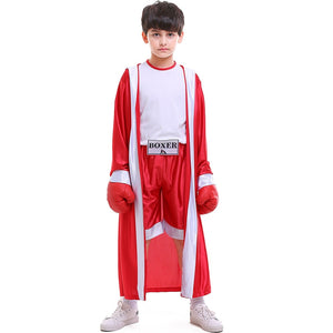 Kids Boy KickBoxing Robe Fight Shorts Festival Uniform