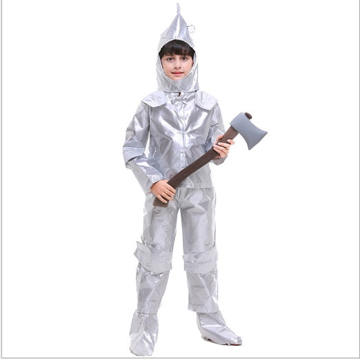 Boy Purim The Wizard Tin Man Cosplay Halloween Carnival Costume