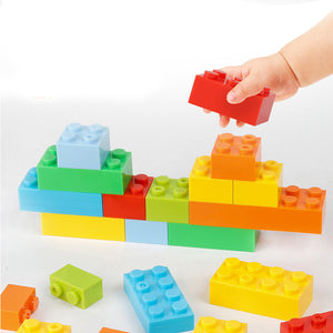 Block Play Building Blocks Set Funnel Slide Blocks DIY Bricks Toy Gift