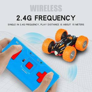 3D RC Stunt Car High Speed Tumbling Crawler Vehicle 360 Degree Flips Double Sided Rotating Tumbling RC Car Radio Control Toy Car