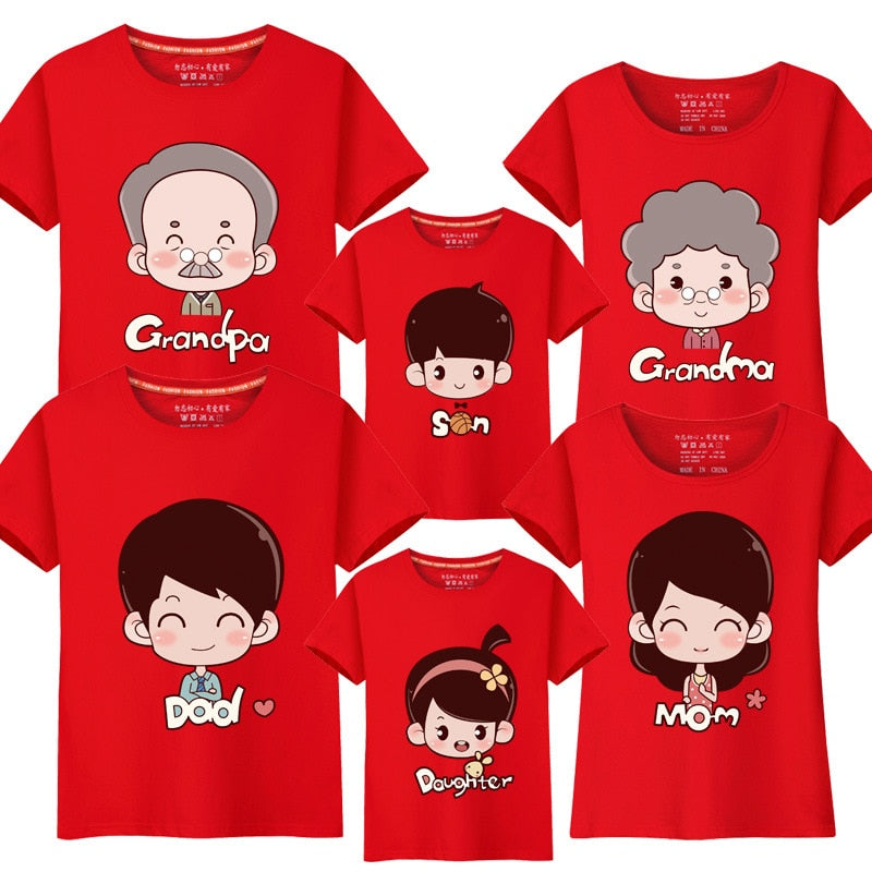 Family Matching T-Shirts Mama Papa Baby grandparents Family Look Outfits