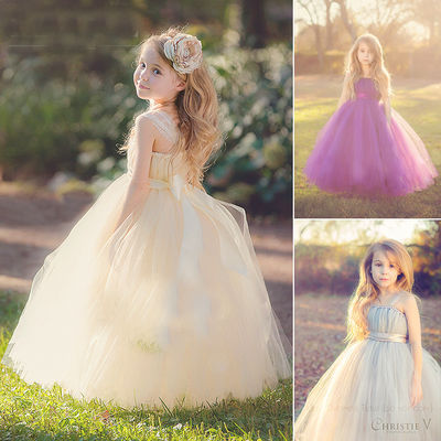 Girls Robe Princesse Ceremonie Floral Holiday Dresses