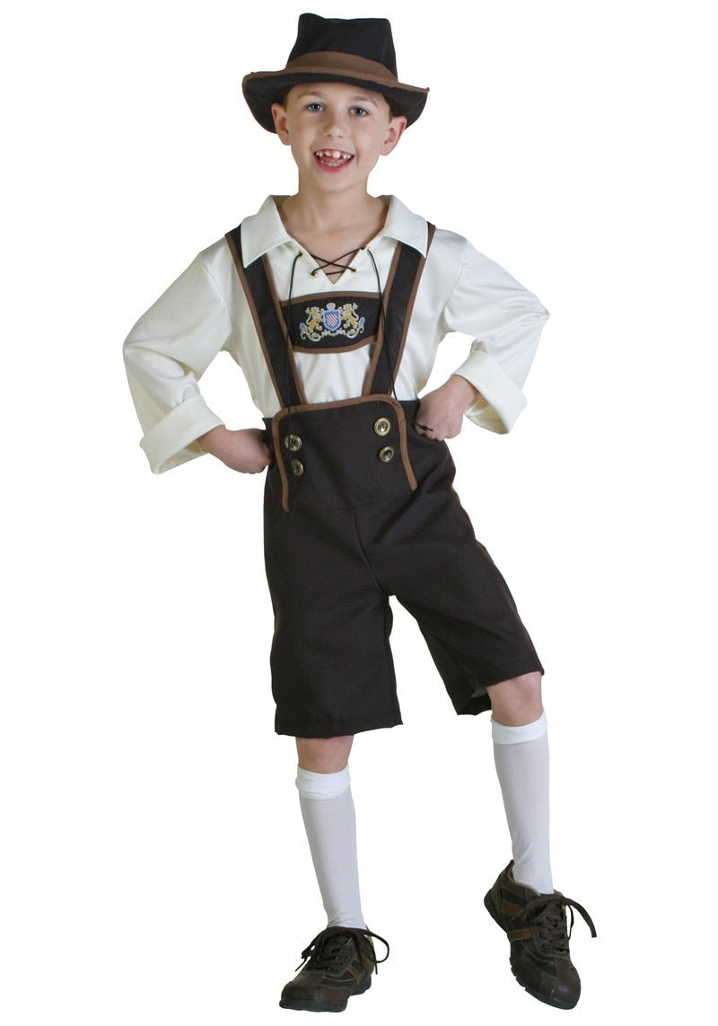 Children Oktoberfest Costume  Festival Beer Cosplay Halloween