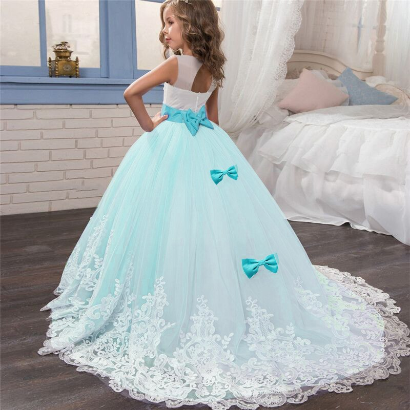 Flower Girl Dress Girls Formal Dresses Wedding Evening Prom Ball Gown Girls Maxi Dress