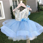 Toddler Bling Bling Sequins Pageant Birthday Party Dresses