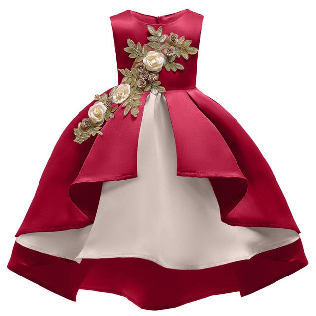 Fancy Kids Pageant Dresses Little Girls Carnival Wedding Party Dress