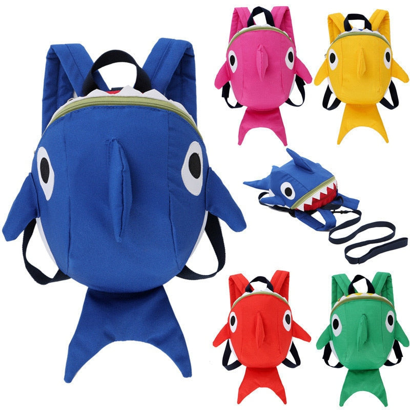 Toddler Backpack Lovely Kindergarten Cartoon Animal Shark Backpack