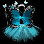 Kids Costume Cosplay Fairy Angel Wings Girl Butterfly Wings Performance Dress