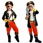 Kids Boys Jack Sparrow Pirate Halloween Cosplay Costumes