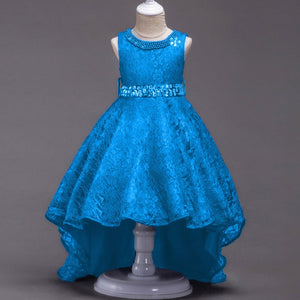 Girls Beading Lace Flower Girl Dresses Wedding Prom Birthday Party Ceremony Dress
