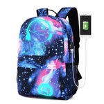 Galaxy School Bag  Collection Canvas USB Charger for Teenage Girls Kids High Quality Backpacks
