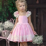 Summer Kids Flower Girl Dresses Pageant Ruffle  Lace Princess Dresses