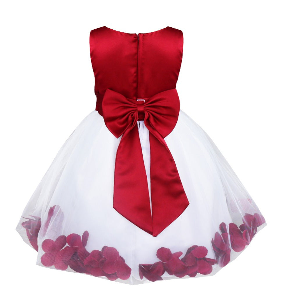 Flower Petals Kids Party Dress Flower Girl Dresses for Toddler Little Big Girls