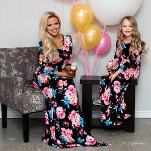 Mommy and Me-Mother Daughter Dresses Family Look Matching Outfits