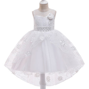 Kids Trailing Lace Party/Prom Flower Girl Dresses for Girls 3-11 Years