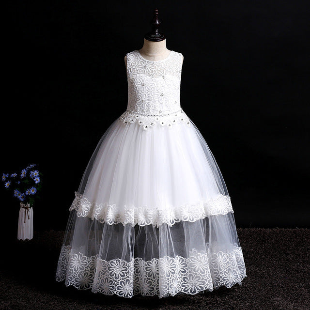Girls First Holy Communion Dresses with Beading