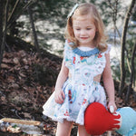 Cute Baby Girls Mermaids Print Ruffles Fly Sleeve Party Dresses