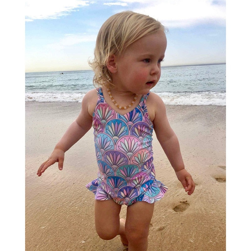 New Kids Girls Bikini Beach One Piece Swimsuit Bikini Swimwear