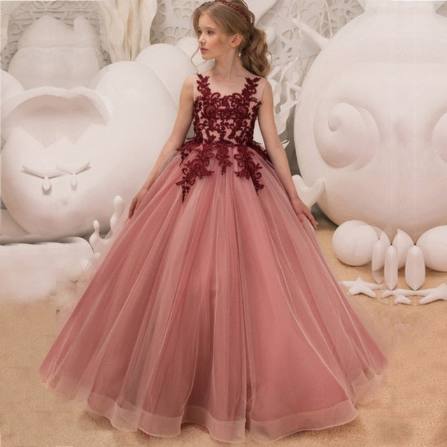 Little/Big Girls Formal Dresses Kids School Prom Gown Graduation Dress