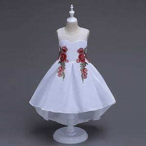 High-end Kids Party Dresses Girl Embroidered Prom Graduation Trailing Dresses