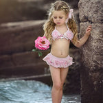 Summer Infant Baby Girl Floral Bandage Tankini  Swimsuit Bikini Beachwear
