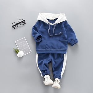Toddler Boy Casual Sweatshirt Long Sleeve Autumn Outfits Tracksuit For 1-4T