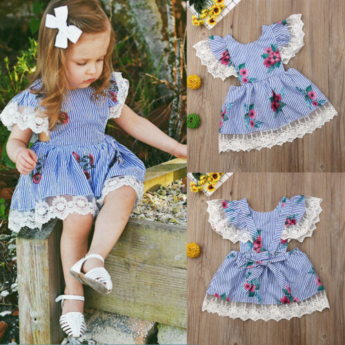 Toddler Girl Flower Petal  Lace Tulle Party Bridesmaid Pageant Dress