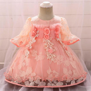Baby Girl Party Lace 1st Birthday Party Princess Baptism Dresses