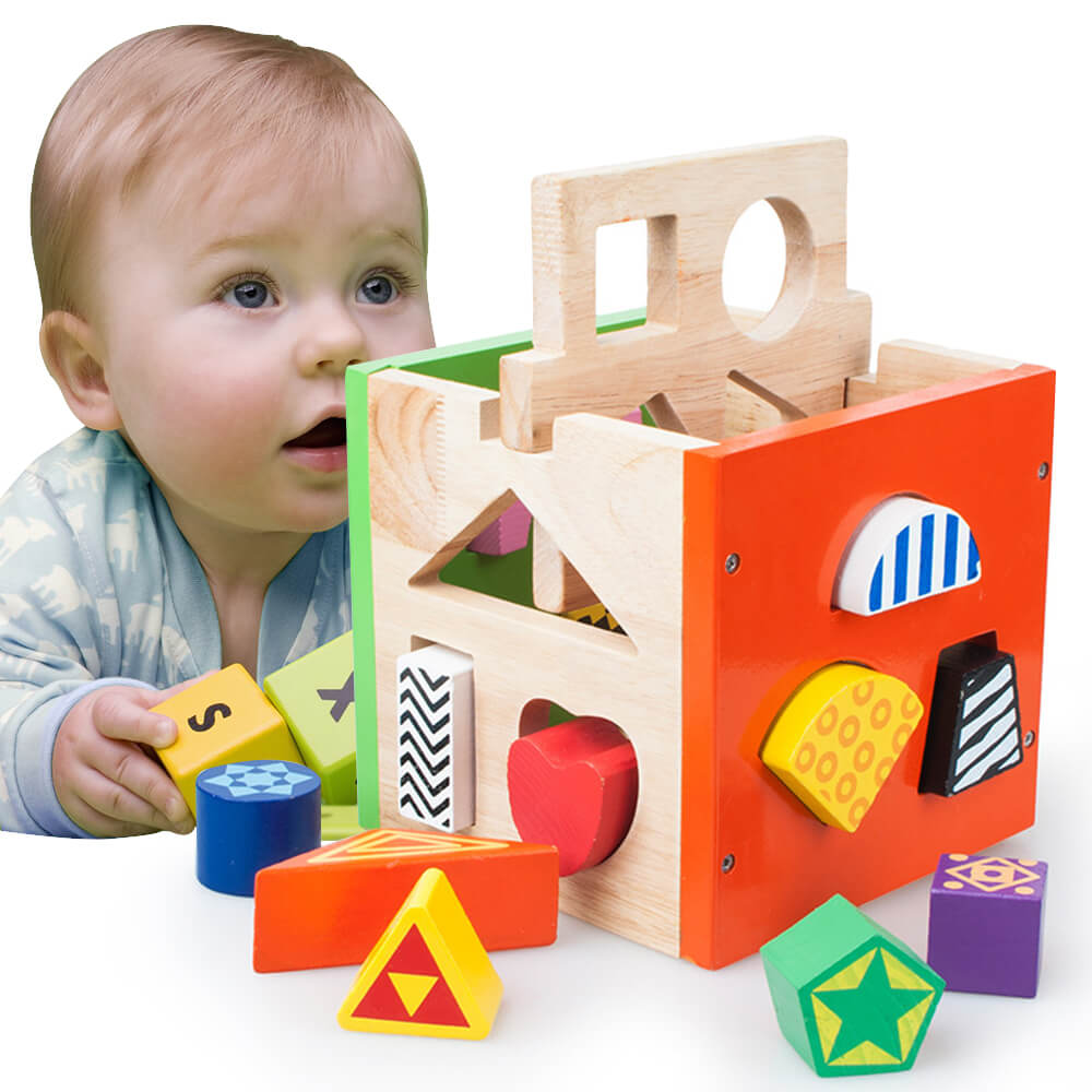 Wooden Building Blocks Toys ,Toddlers Creative Education Learning Toy for Boys and Girls