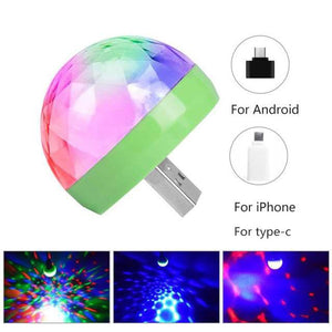 Plug and Play-LED Party USB Atmosphere Light DJ RGB Mini Colorful Music Sound Lamp-USB Phone Magic Ball