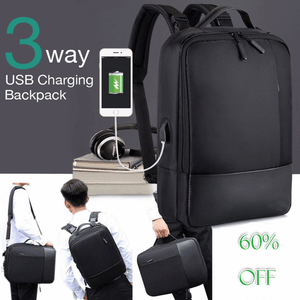 ( 65% OFF )  Premium Anti-theft Laptop Backpack with USB Port