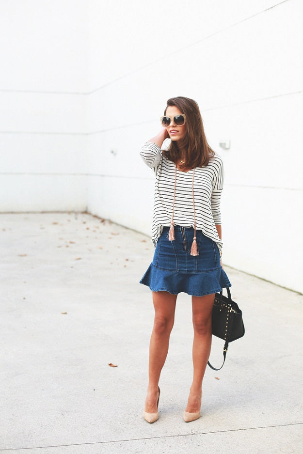 Seams for a Desire | Mel Boteri Style Guide: How To Wear The Trendy Denim Skirt
