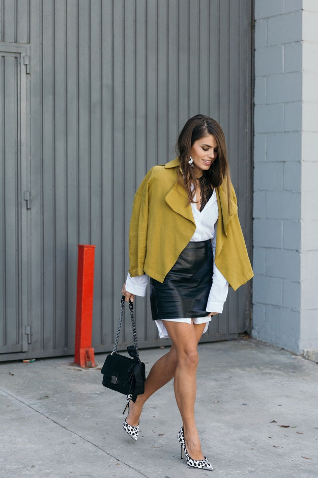 Leather Weather: How To Have Fun With This Trend | Mel Boteri Style Guide | Seams for a Desire