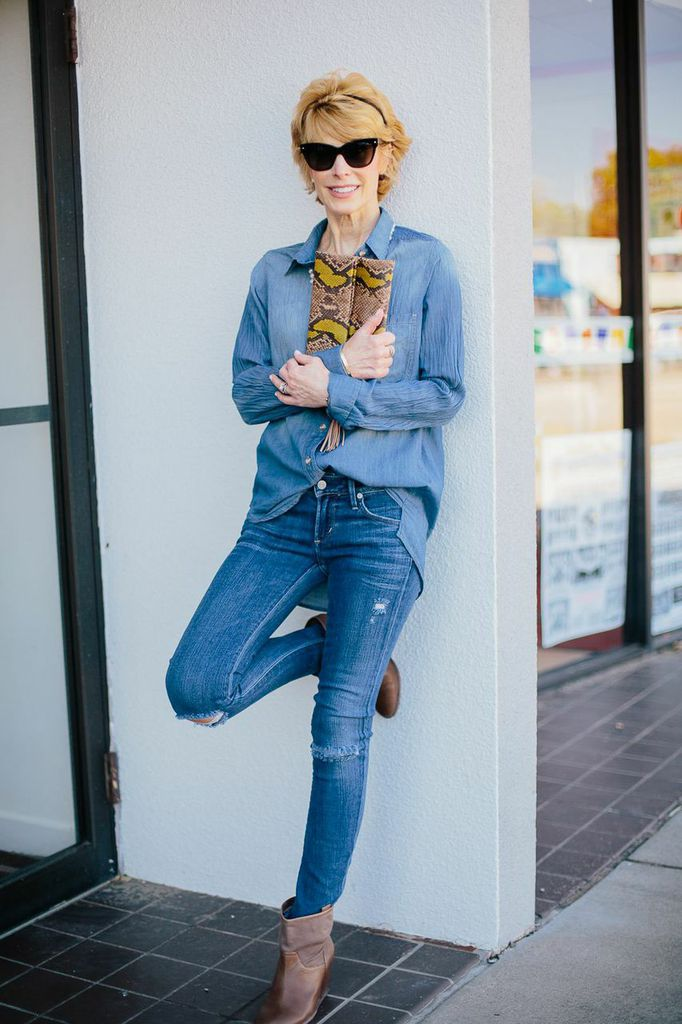 Cathy of The Middle Page in All Denim | Feeling Blue: 5 Ways To Wear Denim On Denim
