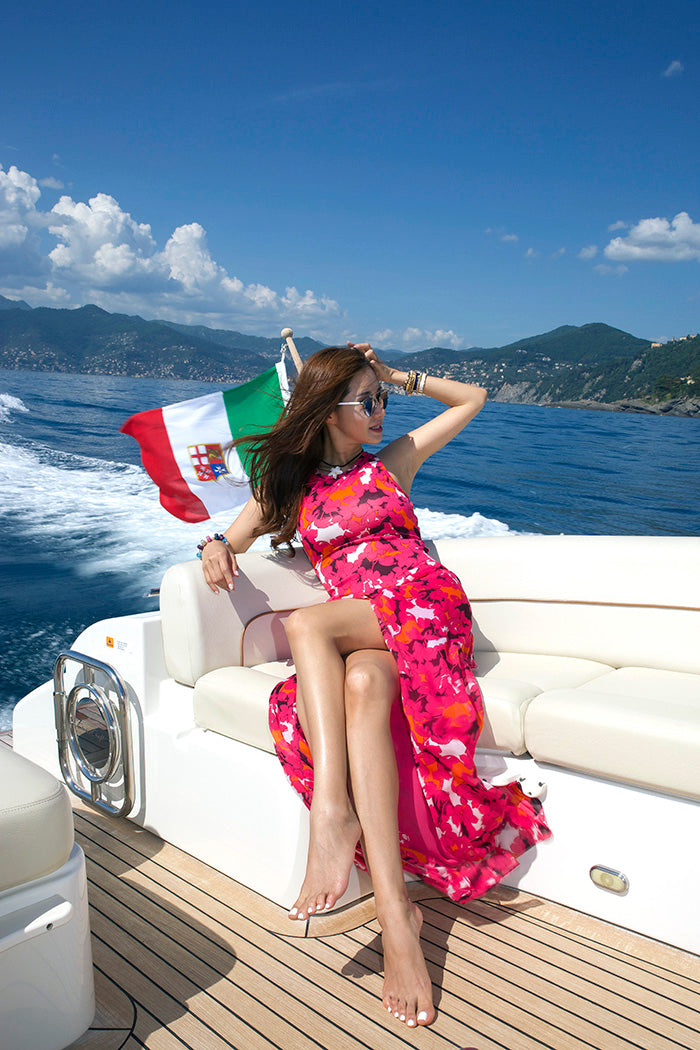 Christina's Style Exotic Prints in Portofino Italy | Mel Boteri Vacation Essentials