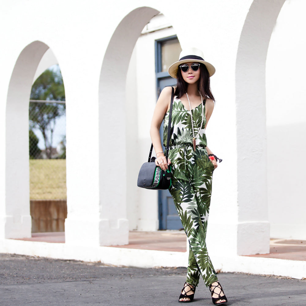 Fit Fab Fun Mom in Tropical Print Romper | Mel Boteri 5 Summer Trends to Try Now