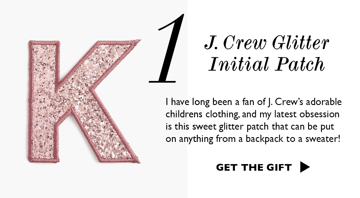 J. Crew Glitter Initial Patch | Gift Ideas For Her - Kids