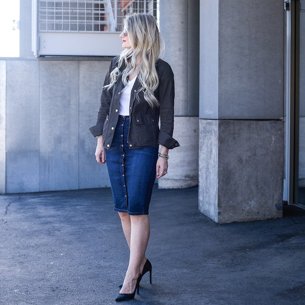 Office Style: How To Incorporate Denim Into Your Office Outfits | Mel Boteri Style Guide | Visions of Vogue