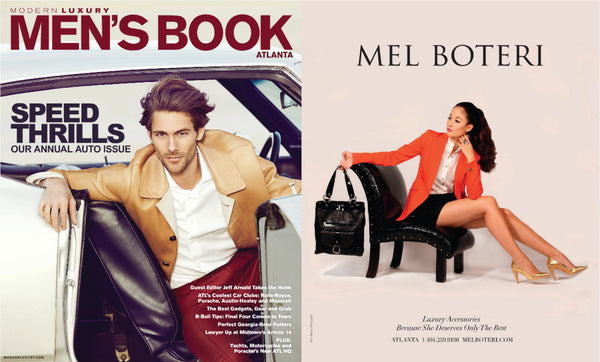 Mel Boteri Featured in Men's Book Magazine | Mel Boteri Press Highlights
